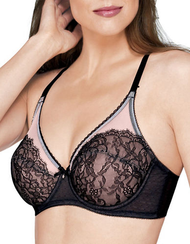 Wacoal Retro Chic Full-Coverage Bra-BLACK-44DDD