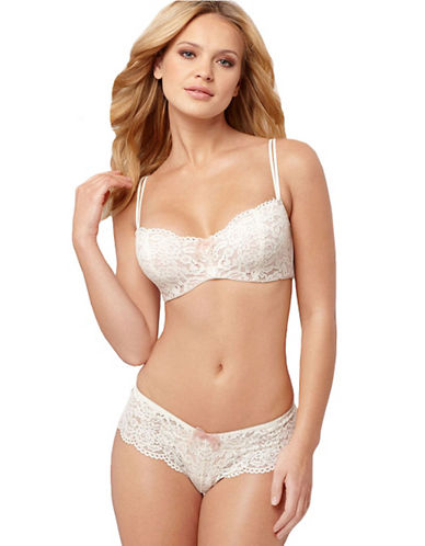 B. Tempt'D By Wacoal Ciao Bella Balconette Bra-WHITE-34DD