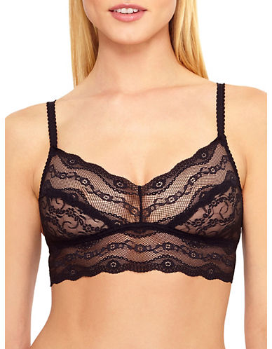 B. TemptD By Wacoal Lace Kiss Bralette 910182-NIGHT-Medium