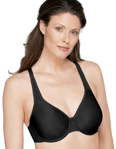 Wacoal Basic Beauty Full Figure Seamless Underwire Bra-BLACK-38DDD