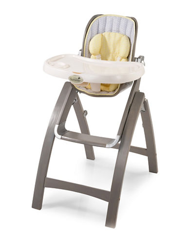 Summer Infant Bentwood Chevron Leaf Highchair-GREY-One Size