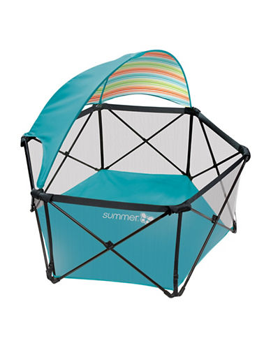 Summer Infant Pop N Play Portable Playard-BLUE-One Size
