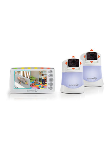 Summer Infant Side by Side 2.0 Split-Screen Video Monitor Set-WHITE-One Size