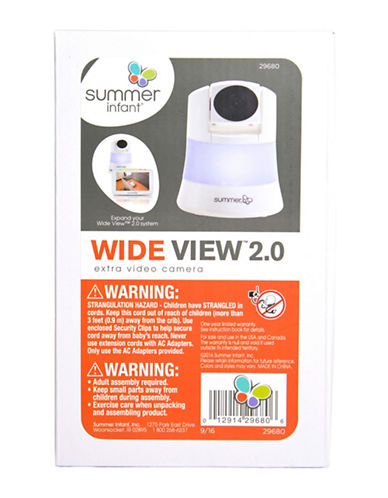 Summer Infant Wide View 2.0 Extra Camera-WHITE-One Size