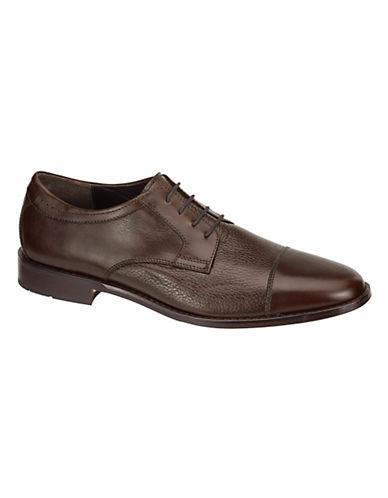 JOHNSTON  MURPHY Emmert CapToe Leather Oxfords brown Size 12
