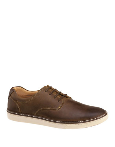 Johnston & Murphy McGuffey Nubuck Oxford Shoes-BROWN-9