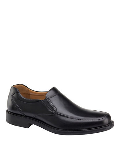 Johnston & Murphy Plus Tabor Calfskin Leather Loafers-BLACK-11.5 88655827_BLACK_11.5