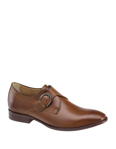 Johnston & Murphy Monk Strap Dress Shoes-TAN-11.5