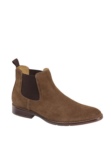 Johnston & Murphy Garner Leather Chelsea Boots-BROWN-10