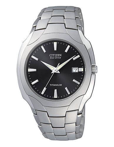 Citizen Men's Titanium Watch-SILVER-One Size