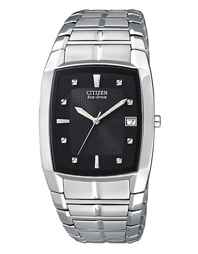 Citizen Men's Stainless Steel Watch-SILVER-One Size