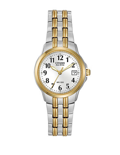 Citizen Eco-Drive Silhouette Two-Tone Stainless Steel Bracelet Watch-TWO TONE-One Size