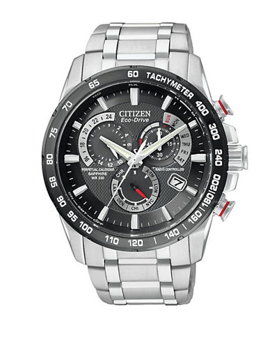 Citizen Mens Eco-Drive Perpetual Chrono A-T Watch-SILVER-One Size