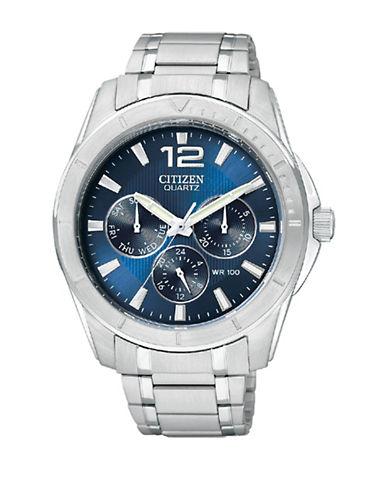 Citizen Quartz Analog Citizen Quartz Collection Stainless Steel Bracelet Watch-SILVER-One Size