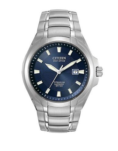 Citizen Analog Titanium Watch-SILVER-One Size