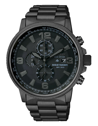 Citizen Nighthawk Watch-BLACK-One Size