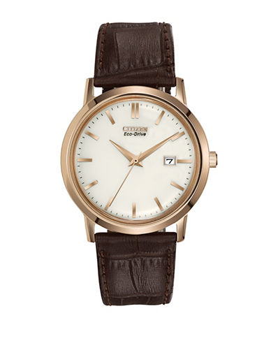 Citizen Analog Vintage Strap Watch-BROWN-One Size