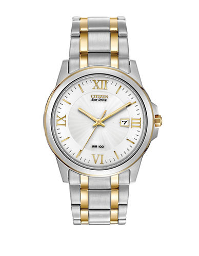Citizen Analog Two-Tone Stainless Steel Dress Watch-TWO TONE-One Size