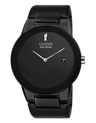 Citizen Axiom Stainless Steel Watch-BLACK-One Size