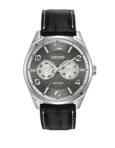 Citizen Stainless Steel Analog Dress Watch-BLACK-One Size