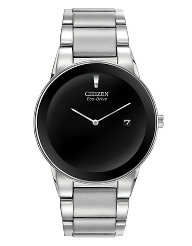 Citizen Axiom Stainless Steel Watch-SILVER-One Size