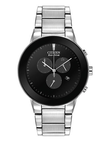 Citizen Mens Axiom Chronograph Watch-SILVER-One Size