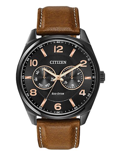 Citizen Mens Eco Dress Strap Watch-BROWN-One Size
