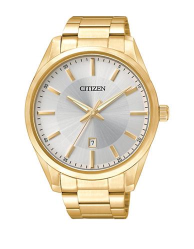 Citizen Quartz Analog Citizen Quartz Collection Goldtone Stainless Steel Watch-GOLD-One Size