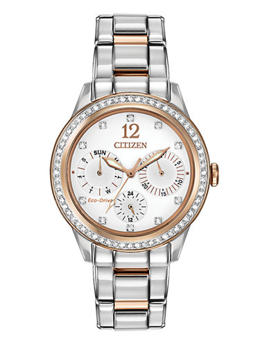 Citizen Womens Silhouette Crystal  FD201651A-TWO TONE-One Size