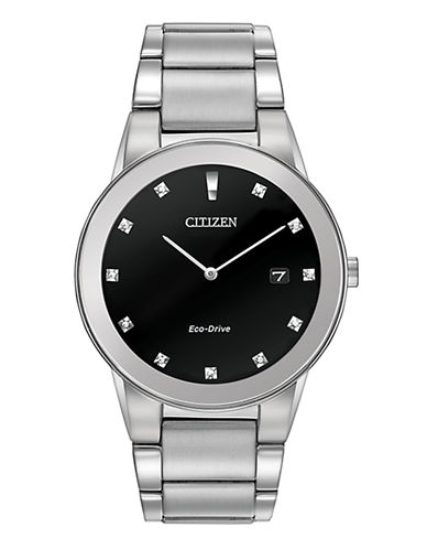Citizen Mens Analog Axiom Watch AU1060-51G-SILVER-One Size