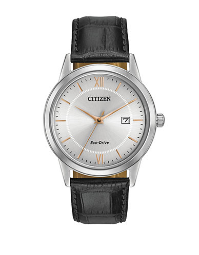 Citizen Analog Straps Stainless Steel Watch-BLACK-One Size