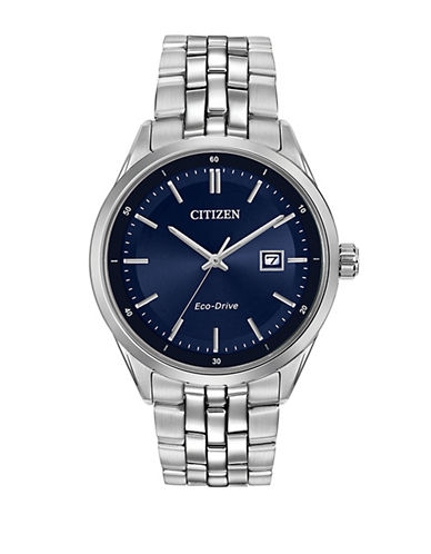 Citizen Analog Sapphire Collection Bracelet Watch-SILVER-One Size