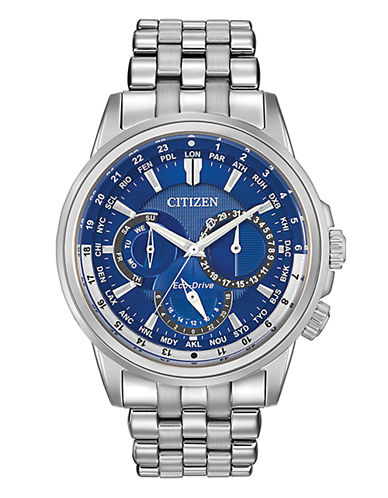 Citizen Mens Analog Calendrier Watch BU2021-51L-SILVER-One Size