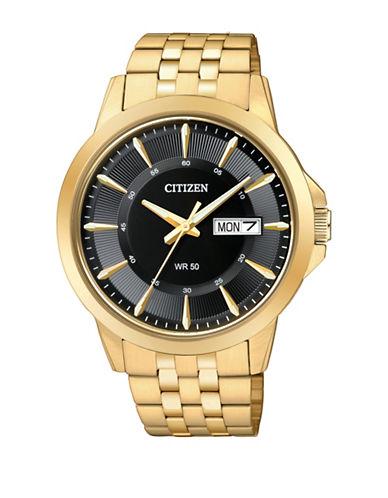 Citizen Quartz Analog Citizen Quartz Collection Goldtone Bracelet Watch-GOLD-One Size