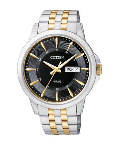 Citizen Quartz Analog Citizen Quartz Collection Two-Tone Bracelet Watch-SILVER/GOLD-One Size