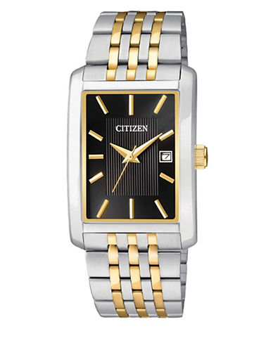 Citizen Quartz Analog Citizen Quartz Collection Dualtone Stainless Steel Watch-SILVER/GOLD-One Size