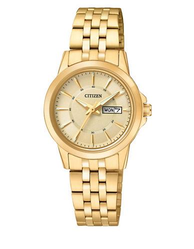 Citizen Quartz Analog Citizen Quartz Collection Watch-GOLD-