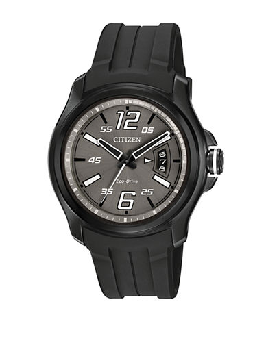 Citizen Drive High Tech Machine Strap Watch-BLACK-One Size