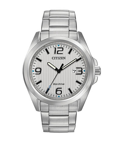 Citizen Analog Stainless Steel Sport Watch-SILVER-One Size