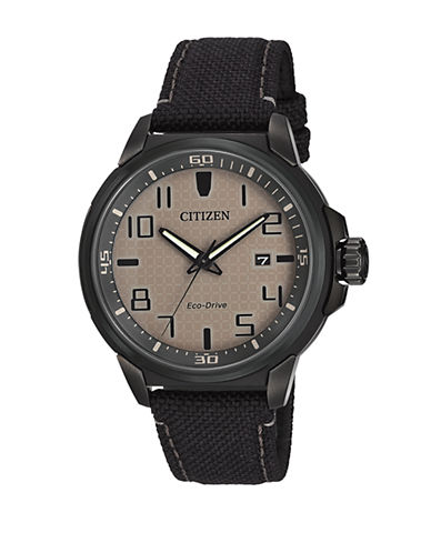 Citizen Drive Action Required Stainless Steel Strap Watch-BLACK-One Size