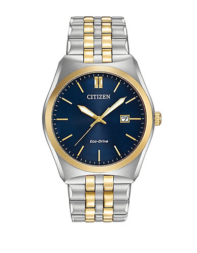 Citizen Corso Stainless Steel Bracelet Watch-TWO TONE-One Size