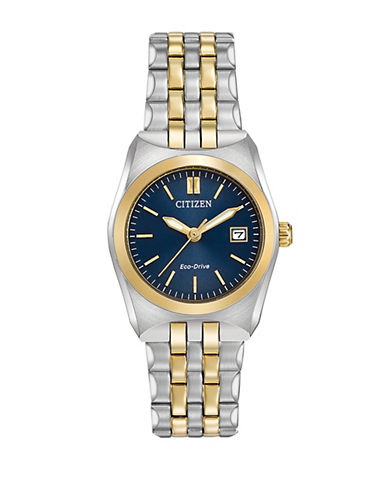 Citizen Eco-Drive Classic Corso Two-Tone Stainless Steel Bracelet Watch-TWO TONE-One Size