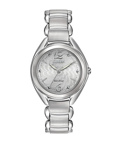 Citizen Eco-Drive Citizen L Stainless Steel Bracelet Watch-SILVER-One Size