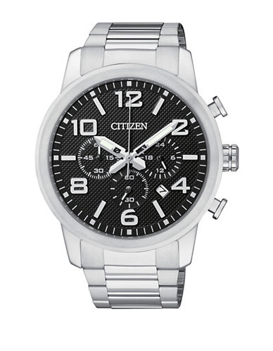 Citizen Chronograph Citizen Stainless Steel Bracelet Watch-SILVER-One Size