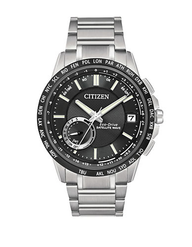 Citizen Satellite Wave-World Time GPS Watch-SILVER-One Size