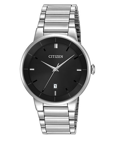 Citizen Quartz Analog Citizen Quartz Collection Stainless Steel Watch-SILVER-One Size