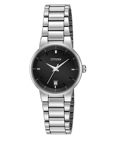 Citizen Quartz Analog Citizen Quartz Collection Stainless Steel Bracelet Watch-SILVER-One Size