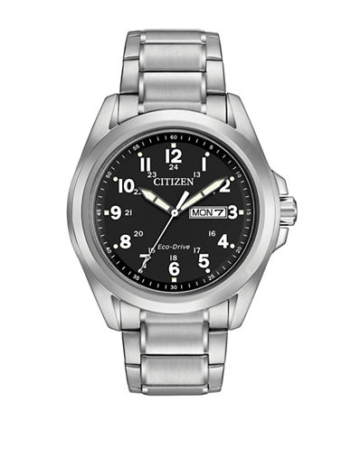 Citizen Analog Sport Silvertone Stainless Steel Watch-SILVER-One Size