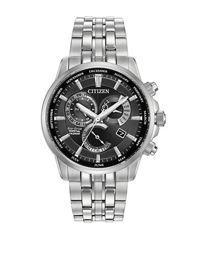 Citizen Perpetual Calendar Calibre 8700 Silvertone Watch-SILVER-One Size