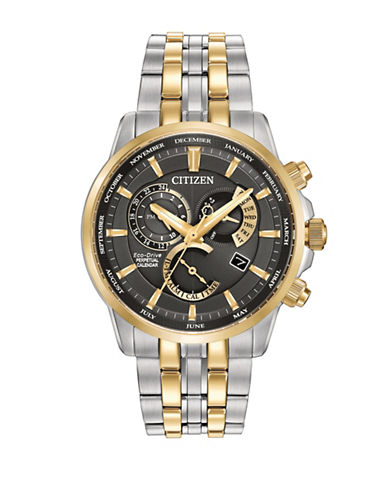 Citizen Eco-Drive Stainless Steel Caliber 8700 Bracelet Watch-NO COLOR-One Size